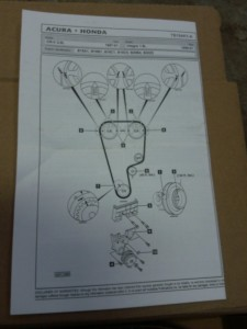 instructions for installing a timing belt