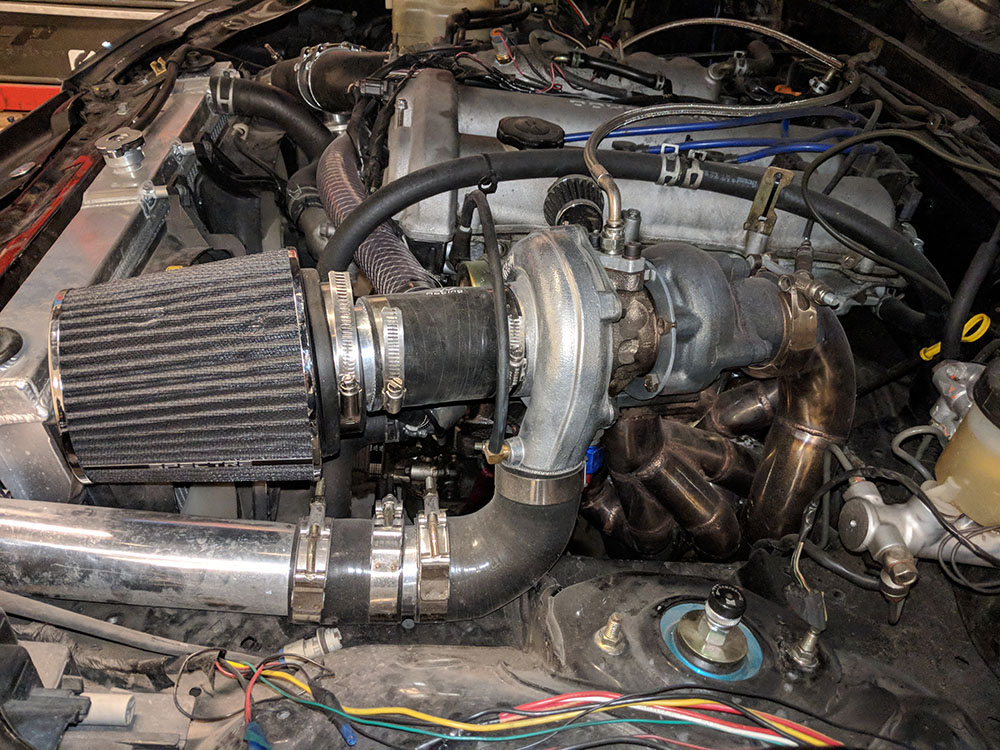 Turbo Miata Engine Bay